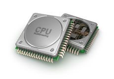 Central computer processors CPU, 3D illustration Stock Image
