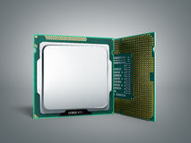 Central Computer Processors CPU High resolution 3d illustration Stock Photography