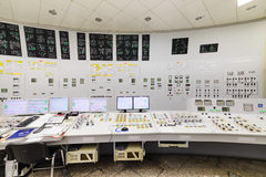 The central control room of nuclear power plant. Royalty Free Stock Images