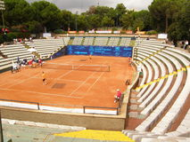 Central Court landscape. Central Court of Genoa Open Challenger Royalty Free Stock Photos