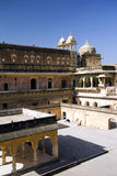 Central courtyard in Jaipur fort, India Stock Photos