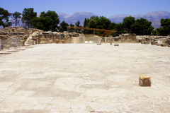 Central courtyard Phaistos Crete Stock Photo