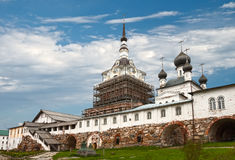 Central courtyard of the Solovetsky monastery Stock Photo