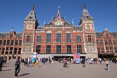 Central d'Amsterdam Photo stock