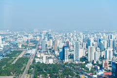 Central dawntown of Bangkok city with high building city skyline Royalty Free Stock Photo