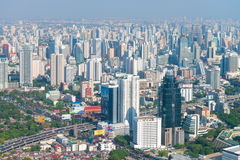 Central dawntown of Bangkok city with high building city skyline Stock Image