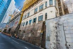 Central de bambu Hong Kong de Soho dos andaimes Imagem de Stock Royalty Free