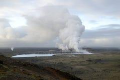 Central de calefacción en Islandia Fotografía de archivo