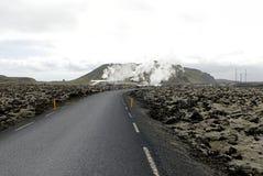 Central de calefacción en Islandia Imagen de archivo libre de regalías