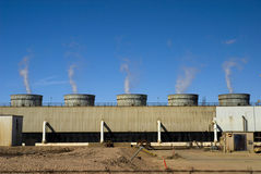 Central de energía Fotos de archivo libres de regalías