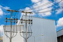Central de energía de la biomasa foto de archivo libre de regalías