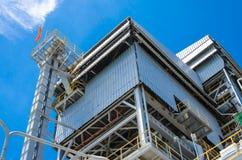 Central de energía de la biomasa fotos de archivo