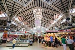Central de Mercado o central de Mercat en Valencia, España fotografía de archivo
