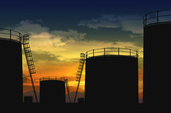 Central de petróleo Imagens de Stock