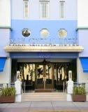 Central de stationnement de type d'art déco dans Miami Beach Images libres de droits