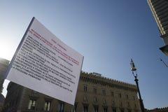 Central de tremblement de terre de démonstration de l'Italie Photographie stock libre de droits