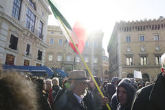 Central de tremblement de terre de démonstration de l'Italie Photos libres de droits
