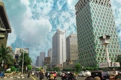 Central de ville de Jakarta Photographie stock