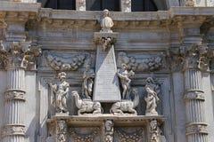 Central del av fasaden av den helgonMoses kyrkan royaltyfri foto