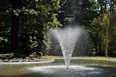 Central depuradora en el parque Fotografía de archivo