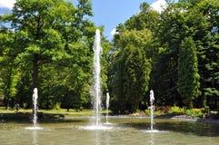 Central depuradora en el parque Foto de archivo