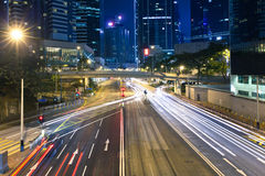 Central district at night Royalty Free Stock Photo