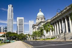 Central district of Singapore Stock Photos
