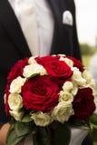 central dof bukiet róż ogniskowy kwiatek punktu nisko poślubić Zdjęcie Stock