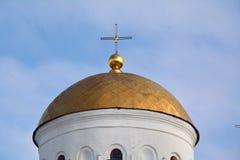 Central dome of Transfiguration cathedral, Chernihiv Stock Photo