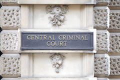 central domstolbrottsling Royaltyfria Bilder