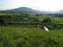 Central Drakensberg mountain landscape Stock Photo