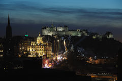Central Edinburgh, Scotland, UK, at dusk Stock Photography