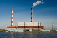 Central eléctrica. Imagem de Stock