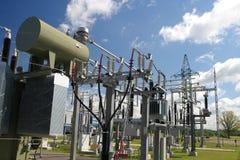 Central eléctrica imagens de stock