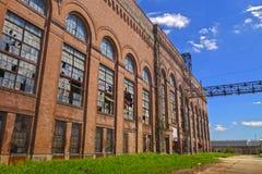Central eléctrica abandonada foto de archivo