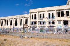 Central eléctrica abandonada: Detalles marcados con etiqueta Imagen de archivo