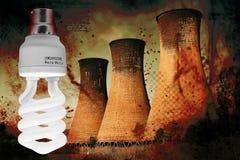 Central eléctrica - calentamiento del planeta Imagenes de archivo