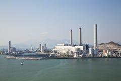 Central eléctrica a carvão fotos de stock