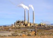 Central eléctrica con carbón Foto de archivo libre de regalías