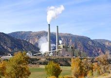 Central eléctrica con carbón Imagen de archivo libre de regalías