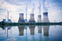 Central eléctrica con carbón Fotografía de archivo