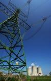Central eléctrica con el pilón Foto de archivo libre de regalías