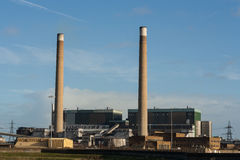 Central eléctrica da biomassa do Tilbury Imagem de Stock