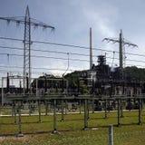 Central eléctrica da eletricidade fotos de stock royalty free