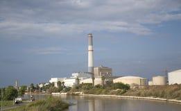 Central eléctrica da leitura Foto de Stock