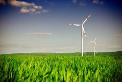 Central eléctrica da turbina da energia de vento Fotografia de Stock Royalty Free