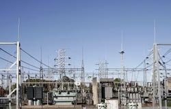 Central eléctrica de alta tensão Imagem de Stock