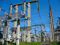 Central eléctrica de alto voltaje del equipo del convertidor Imágenes de archivo libres de regalías