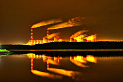Central eléctrica de Belchatow, Poland Foto de Stock Royalty Free