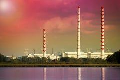 Central eléctrica de calor Imágenes de archivo libres de regalías